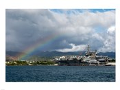 US Navy, A Rainbow Arches Near the Aircraft Carrier USS Kitty Hawk
