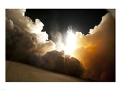 STS-130 Exhaust Cloud Engulfs Launch Pad 39A