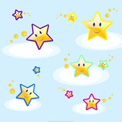 Star Smiles on Clouds