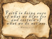 Faith is Being Sure
