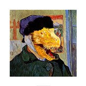 T Rex Van Gogh with Bandaged Battle Damaged Ear