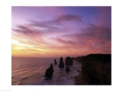 Eroded rocks in the ocean, Twelve Apostles, Port Campbell National Park, Victoria, Australia