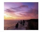 Eroded rocks in the ocean, Twelve Apostles, Port Campbell National Park, Victoria, Australia
