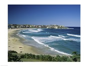 High angle view of a beach, Bondi Beach, Sydney, New South Wales, Australia
