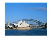 Opera house on the waterfront, Sydney Opera House, Sydney Harbor Bridge, Sydney, Australia