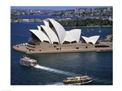 High angle view of an opera house, Sydney Opera House, Sydney, Australia
