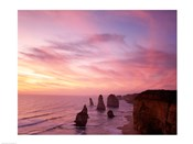 High angle view of rock formations, Twelve Apostles, Port Campbell National Park, Australia