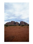 Rock formations on a landscape, Olgas, Uluru-Kata Tjuta National Park, Northern Territory, Australia