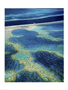 Aerial view of a coastline, Great Barrier Reef, Australia