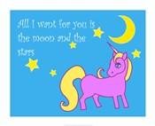 Moon and Stars Unicorn