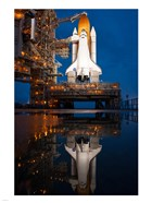Atlantis STS-135 Rainwater Reflection on Pad
