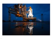 Brightly Lit Atlantis STS-135 on Launch Pad
