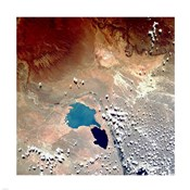 Cerros Colorados Argentina from Space Taken by Atlantis