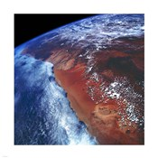 Coastal Namibia photographed from the Space Shuttle Columbia