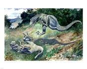 Tyrannosaurus Frolicking With Another