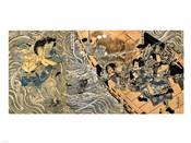 Kuniyoshi Utagawa, The ghost of Taira Tomomori, Daimotsu bay