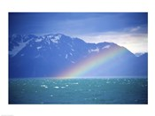 Rainbow over a sea, Resurrection Bay, Kenai Fjords National Park, Alaska, USA