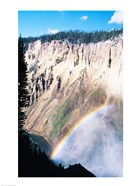 Rainbow over a canyon, Grand Canyon, Yellowstone National Park, Wyoming, USA