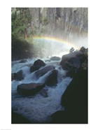 Yosemite National Park, rainbow above stream, USA, California