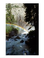 Yosemite National Park, rainbow above stream, USA, California
