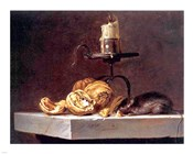 Willem Van Aelst  Still Life with Mouse and Candle