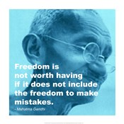 Gandhi - Freedom Quote