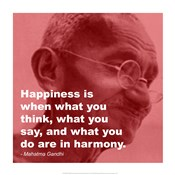 Gandhi - Happiness Quote