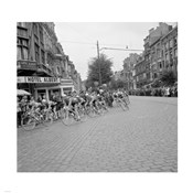 Cyclists in action tour de france 1960