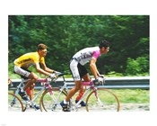 Jan Ullrich and Udo Bolts crossing the Vosges mountains together in the 1997 Tour de France