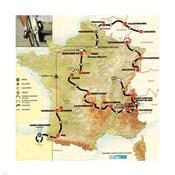 Tour de France 1992 map