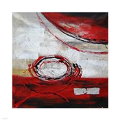 Abstract Circles II - red