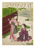 Two Geishas in a Bamboo Garden