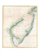 1873 U.S. Coast Survey Chart NJ and the Delaware Bay
