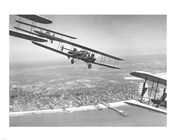 U.S. Army Air Corps Curtiss B-2 Condor bombers flying over Atlantic City