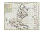 1720 Chatelain Map of North America