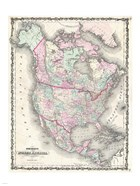 1862 Johnson Map of North America