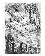 Photograph Looking Up at Wires of the Boulder Dam Power Units, 1941