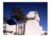 Dramatic Sphynx at the Luxor Hotel Casino in Las Vegas Excalibur Hotel Turets, Las Vegas, Nevada