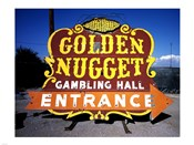 Golden Nugget historic casino sign in the Neon Boneyard, Las Vegas