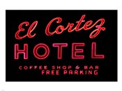 Historic El Cortez Hotel neon sign, Freemont Street, Las Vegas