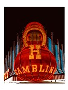 Neon gambling sign on Freemont Street in historic Las Vegas