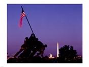 Iwo Jima Memorial at dusk, Washington, D.C.