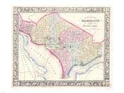 1864 Mitchell Map of Washington D.C.