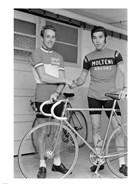 Joop Zoetemelk and Eddy Merckx 1973