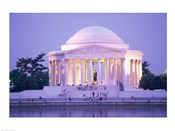 Jefferson Memorial at dusk, Washington, D.C., USA
