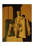 Low angle view of a statue, Lincoln Memorial, Washington DC, USA
