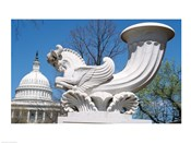 USA, Washington DC, Capitol Building, sculpture