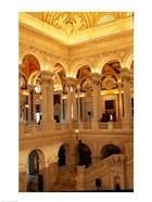 USA, Washington DC, Library of Congress interior
