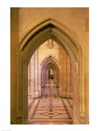 Arched doorways at the National Cathedral, Washington D.C., USA