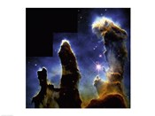 Gaseous pillars of M-16 Eagle Nebula, Star birth photographed by Hubble Space Telescope